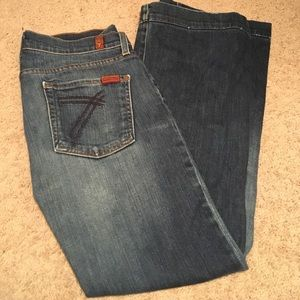 7 for all mankind flare jeans!
